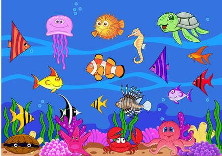 algas marinas: Vida y fondos marinos