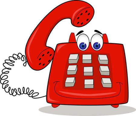 telephone cartoon: Electronic Cartoon