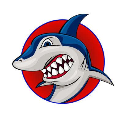 cartoon shark: Shark maskot Illustration