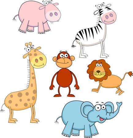 hipopotamo caricatura: Animales de dibujos animados