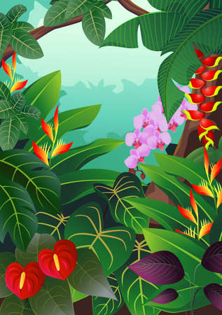 backlit: Nature background Illustration