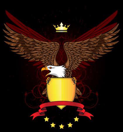 aigle royal: Aigle avec le bouclier et de l'emblème