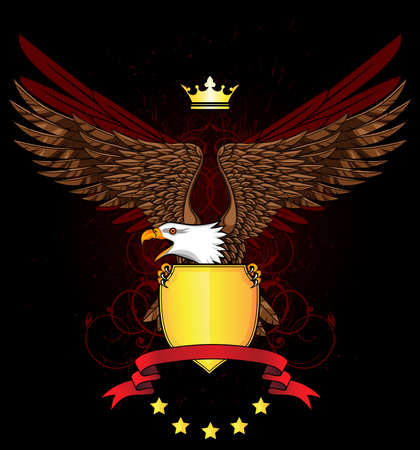 heraldry: Eagle with shield and emblem