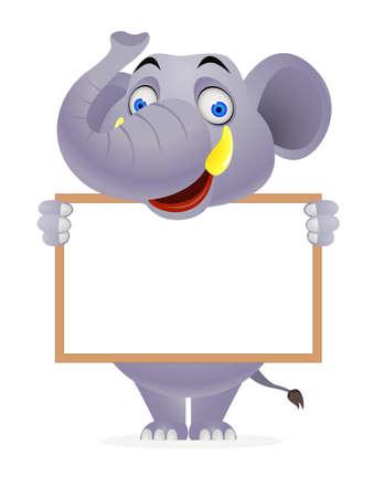 elephant cartoon: Elephant and segno bianco