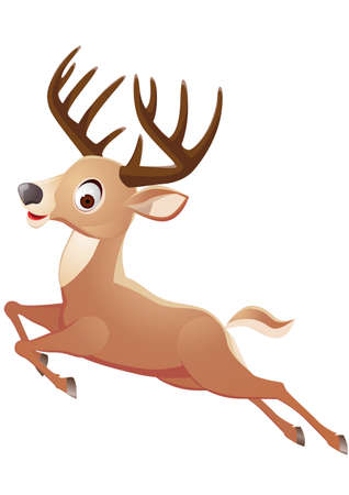 mating: Deer cartoon Illustration