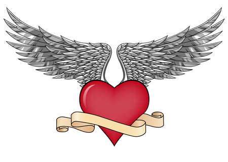 Love and wings Vector