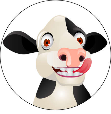 cow head: cow cartoon  Illustration