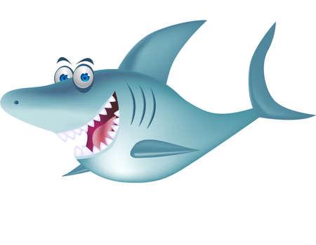 white shark: Shark cartoon