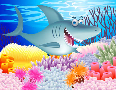 Shark cartoon Stock Vector - 12152683