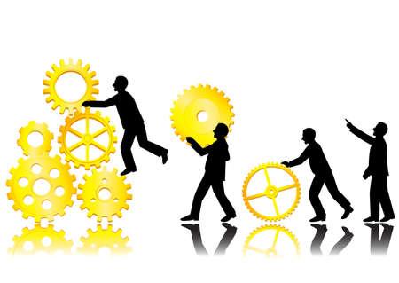 jovenes empresarios: Equipo de concepto de trabajo