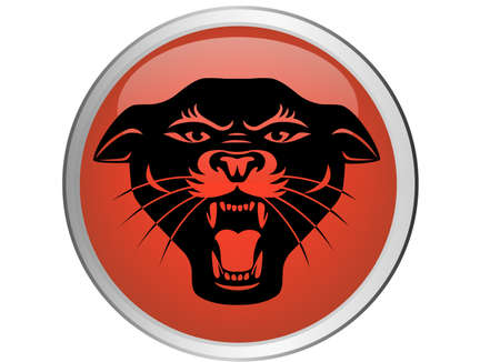 black panthers: Jaguar button Illustration
