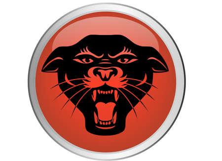 cougar: Jaguar button Illustration
