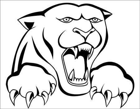 Panther tattoo Stock Vector - 12152563