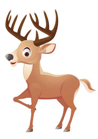 fallow deer: Deer cartoon  Illustration