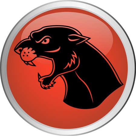 jaguar: Jaguar botón Vectores