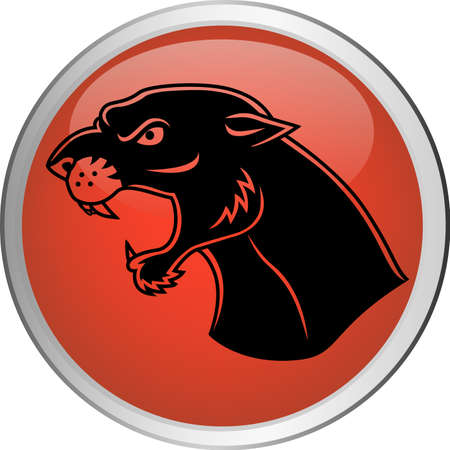 Jaguar button Illustration