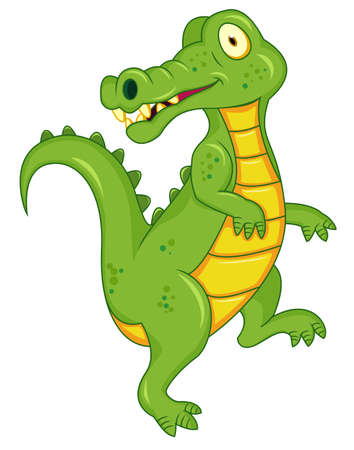 stylistic: Crocodile cartoon Illustration