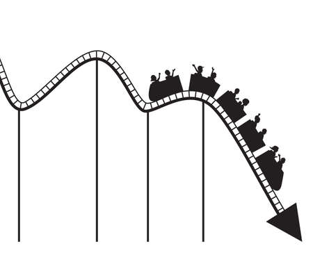 Graph like roller coaster  Vector