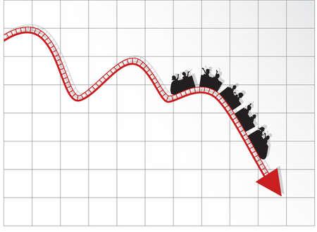 Grafiek als achtbaan Vector Illustratie