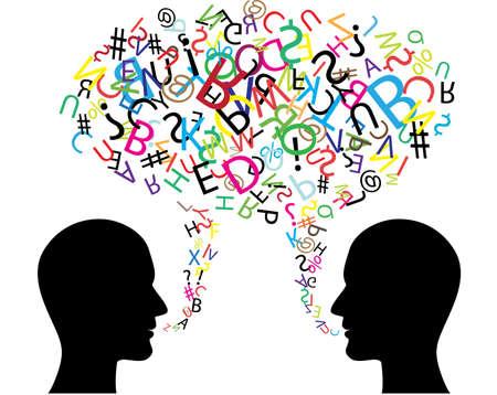 gente comunicandose: Comunicaci�n s�mbolo
