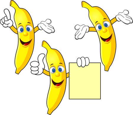 Personnage de dessin animé banane Banque d'images - 12152716