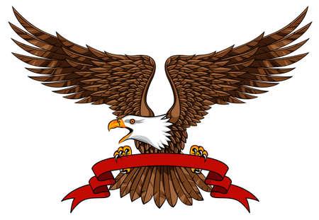 Eagle avec emblème Banque d'images - 12152723
