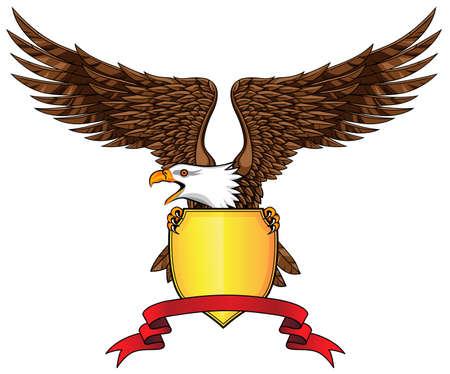 aguila real: El águila con escudo y emblema