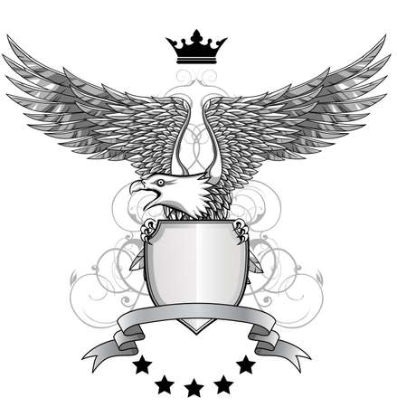 Eagle avec emblème Banque d'images - 12152727