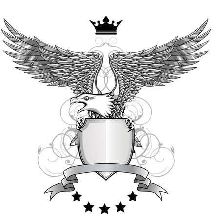 heraldic eagle: Eagle with emblem