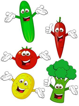 Verduras personaje de dibujos animados Foto de archivo - 12152720