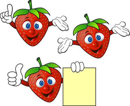Strawbery cartoon Vector