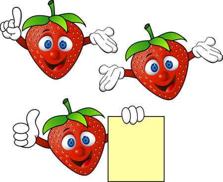 strawberry plant: Strawbery cartoon Illustration