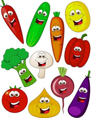 berenjena: Verduras personaje de dibujos animados
