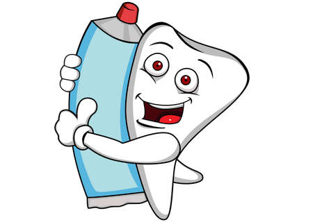 pasta dental: Dientes con pasta de dientes