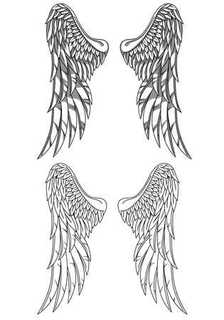 leven en dood: Wings Stock Illustratie