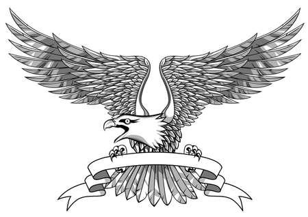 eagle wings: Eagle with emblem