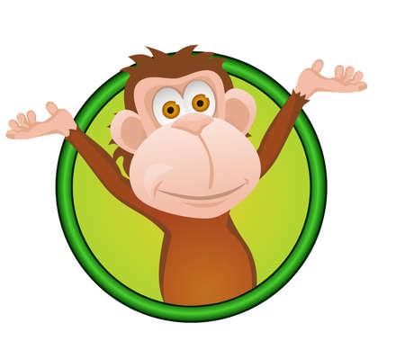 Funny monkey Stock Vector - 12274105