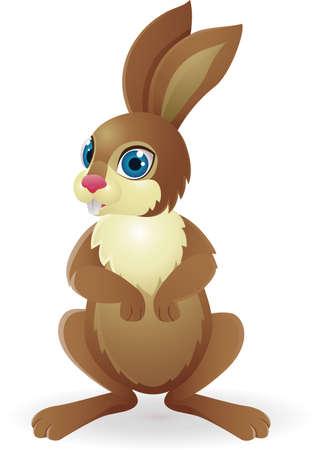 naranja caricatura: Conejo divertido