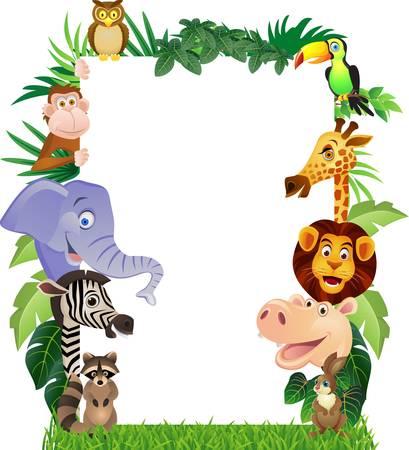 Dessin animé des animaux Banque d'images - 13349871
