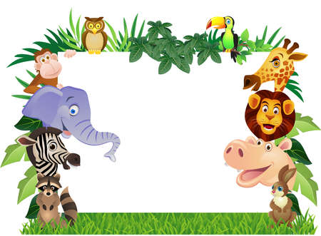jungle cartoon: Animales de dibujos animados