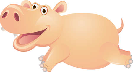 oink:  Pig cartoon Illustration