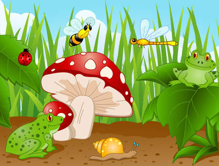 mushroom illustration: Small Animal