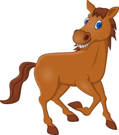 carreras de caballos: Horsec de dibujos animados Vectores