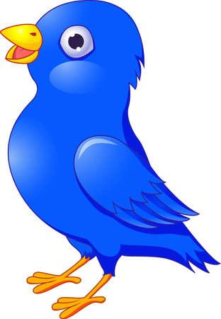 pajaro azul: De la historieta del p�jaro azul aislado en blanco