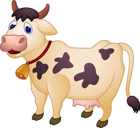cow illustration: Vector Illustration Of Cow Cartoon