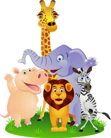 Dessin animé des animaux Banque d'images - 13281648