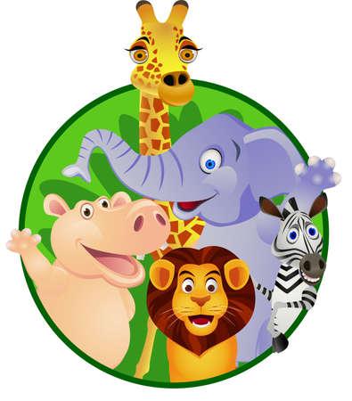 Dessin animé des animaux Banque d'images - 13281650
