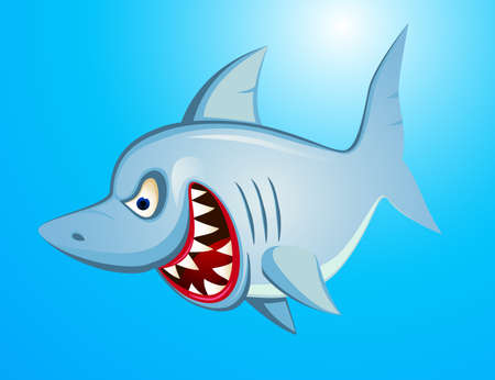 Angry Shark Cartoon Stock Vector - 13281546