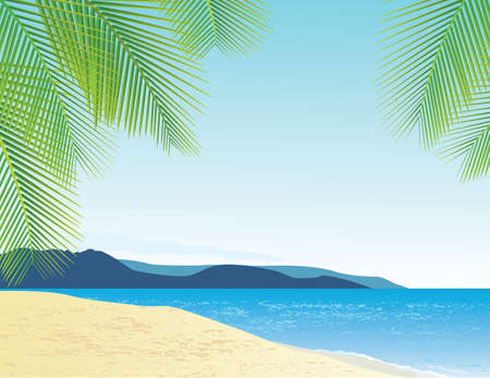 Beach Background Stock Vector - 13281647