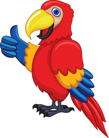 Funny Parrot Vector